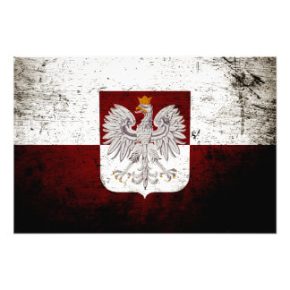 Bandera negra de Polonia del Grunge Cojinete