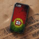Bandera negra de Portugal del Grunge Funda De iPhone 6 Tough Xtreme