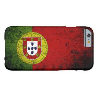 Bandera negra de Portugal del Grunge Funda De iPhone 6 Barely There