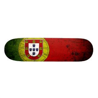 Bandera negra de Portugal del Grunge Monopatin