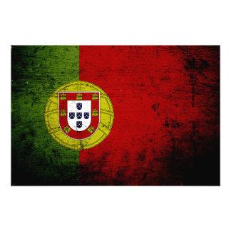 Bandera negra de Portugal del Grunge