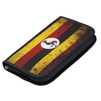 Bandera negra de Uganda del Grunge Planificadores