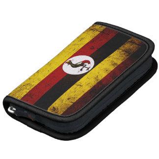 Bandera negra de Uganda del Grunge Planificador