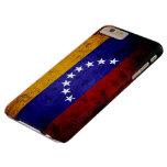 Bandera negra de Venezuela del Grunge Funda Para iPhone 6 Plus Barely There