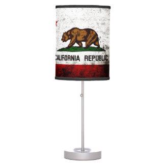 Bandera negra del estado de California del Grunge Lámpara De Escritorio