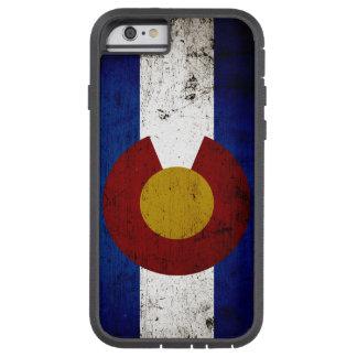 Bandera negra del estado de Colorado del Grunge Funda De iPhone 6 Tough Xtreme
