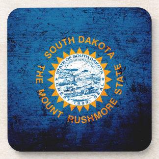 Bandera negra del estado de Dakota del Sur del Posavasos