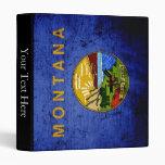 Bandera negra del estado de Montana del Grunge