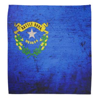 Bandera negra del estado de Nevada del Grunge