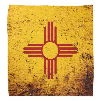 Bandera negra del estado de New México del Grunge Bandanas
