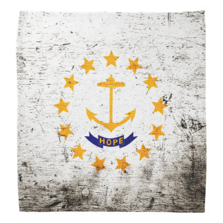 Bandera negra del estado de Rhode Island del Bandanas