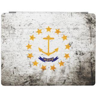 Bandera negra del estado de Rhode Island del Cover De iPad