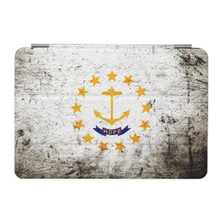 Bandera negra del estado de Rhode Island del Cover De iPad Mini