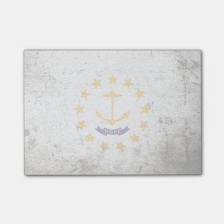 Bandera negra del estado de Rhode Island del Notas Post-it®
