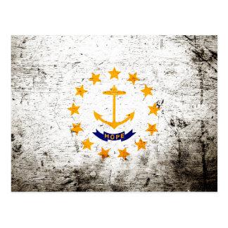 Bandera negra del estado de Rhode Island del Postal