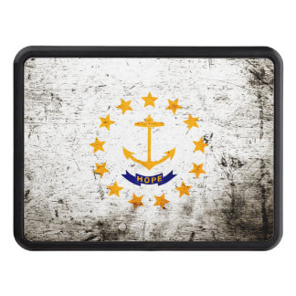 Bandera negra del estado de Rhode Island del Tapa De Remolque
