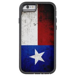 Bandera negra del estado de Tejas del Grunge Funda Para iPhone 6 Tough Xtreme