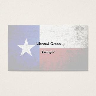 Bandera negra del estado de Tejas del Grunge Tarjetas De Visita