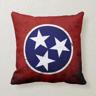 Bandera negra del estado de Tennessee del Grunge Almohadas