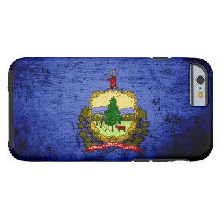 Bandera negra del estado de Vermont del Grunge Funda De iPhone 6 Tough