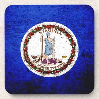 Bandera negra del estado de Virginia del Grunge Posavaso
