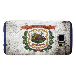 Bandera negra del estado de Virginia Occidental Fundas Samsung Galaxy S6