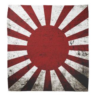 Bandera negra del sol naciente de Japón del Grunge Bandanas