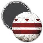 Bandera negra del Washington DC del Grunge Imán Para Frigorífico