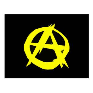 Bandera negra y amarilla del capitalismo de Anarch