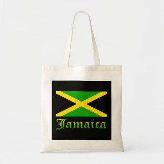 Bandera negro verde y amarillo de Jamaica Bolsas De Mano
