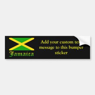 Bandera, negro, verde y amarillo de Jamaica Pegatina De Parachoque