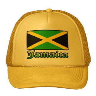 Bandera negro verde y amarillo de Jamaica Gorras