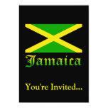 """Bandera, negro, verde y amarillo de Jamaica Invitación 5"""" X 7"""""""