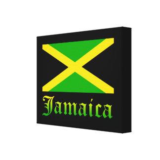 Bandera, negro, verde y amarillo de Jamaica Impresiones En Lona Estiradas