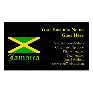 Bandera negro verde y amarillo de Jamaica