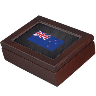 Bandera neozelandesa cajas de recuerdos