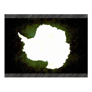 Bandera nerviosa moderna de Antartican Tarjetas Postales