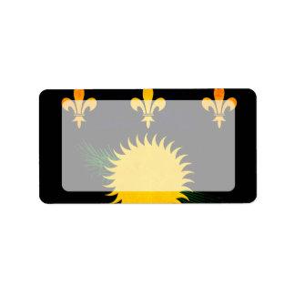 Bandera nerviosa moderna de Guadeloupean Etiqueta De Dirección