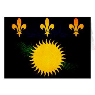 Bandera nerviosa moderna de Guadeloupean Tarjeton