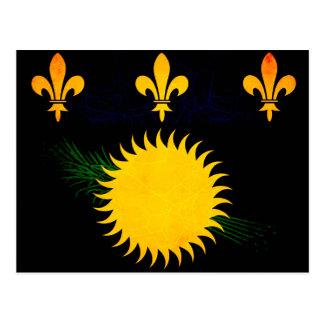 Bandera nerviosa moderna de Guadeloupean Postal
