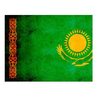 Bandera nerviosa moderna de Kazakhstani Tarjetas Postales