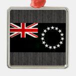 Bandera nerviosa moderna de la isla de cocinero ornamentos de reyes magos