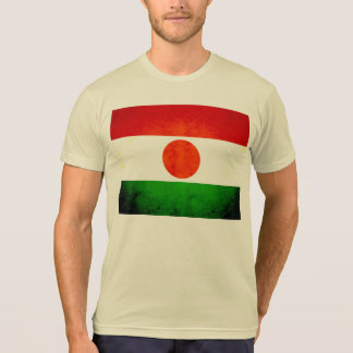 Bandera nerviosa moderna de Nigerien Camisetas
