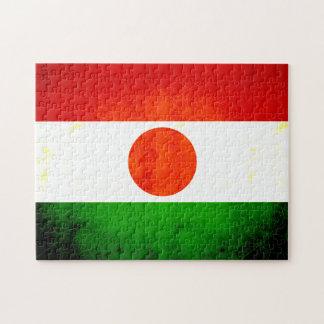 Bandera nerviosa moderna de Nigerien Puzzles Con Fotos