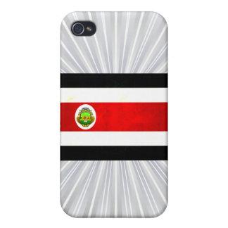 Bandera nerviosa moderna de Rican de la costa iPhone 4 Carcasa