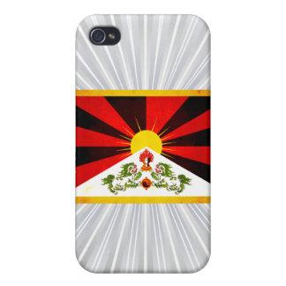 Bandera nerviosa moderna de Tibetese iPhone 4/4S Funda