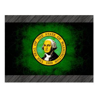 Bandera nerviosa moderna de Washingtonian Tarjetas Postales