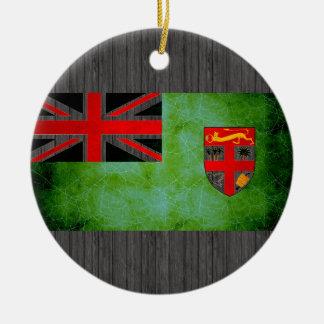 Bandera nerviosa moderna del Fijian Adorno Redondo De Cerámica