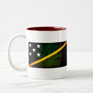 Bandera nerviosa moderna del isleño de Solomon Taza De Café