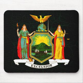 Bandera nerviosa moderna del neoyorquino tapete de ratón